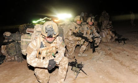 Members of the 1st Battalion The Royal Welsh take part in Operation Moshtarak at Camp Bastion
