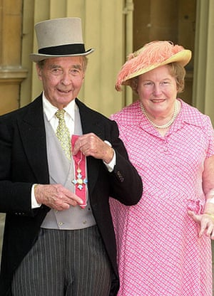 Dick Francis: 2000: Dick Francis and wife Mary, after he received his CBE
