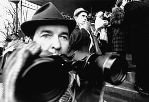 Dick Francis: 1969: Ex-jockey-turned-author Dick Francis watches a race
