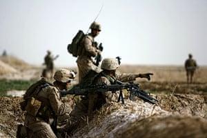 Operation Moshtarak : Marines come under Taliban sniper fire near Marjah