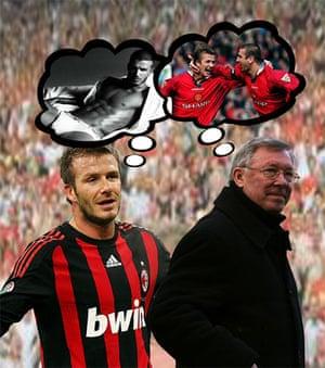 Beckham v Man Utd: Beckham v Man Utd