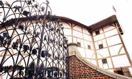 Shakespeare's Globe theatre, on the south bank of the river Thames in London