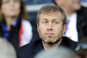 Russian oligarchs: Chelsea owner Roman Abramovich at a World Cup 2010 qualifying match