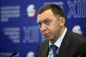 Russian oligarchs: Oleg Deripaska at the International Economic forum in St Petersburg