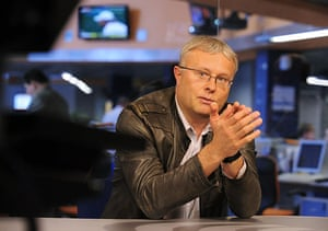 Russian oligarchs: Alexander Lebedev at a news conference in RIA Novosti