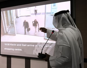 Mahmoud al-Mabhouh: A presenter points to video footage showing two of the 11 suspects