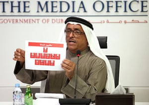 Mahmoud al-Mabhouh: Dubai's police chief holds photographs of eleven suspects