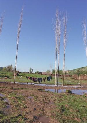 Tajikistan Climate: Shibanai village - washing hanging out to dry Tajikistan