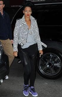 Rihanna in Nike hi-tops