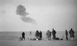 French nuclear weapon test in the Sahara in 1960s