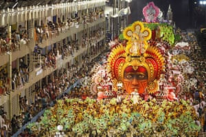eyewitness: Salgueiro samba school parade at the Sambadrome in Rio de Janeiro