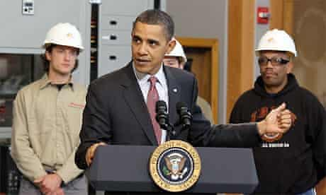 Barack Obama speaks about creating new energy jobs