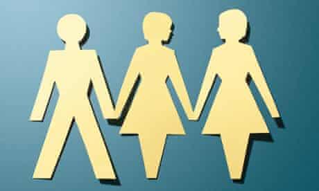 Gay love: illustration