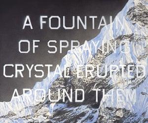 JG Ballard: Crash: Ed Ruscha, Fountain of Crystal (2009)