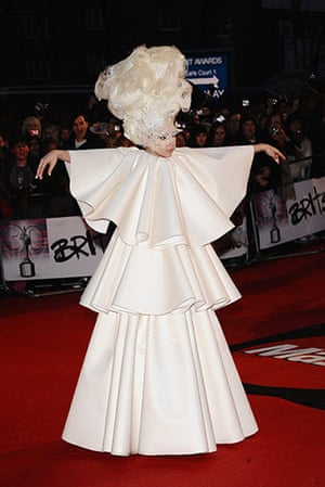 Brit Awards Style: Lady Gaga arrives for The Brit Awards 2010
