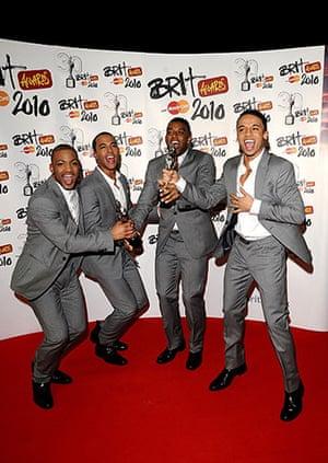 Brit Awards Style: JLS at The Brit Awards 2010