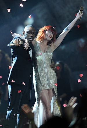 Brit Awards Style: The Brit Awards 2010 Dizzee Rascal and Florence Welch