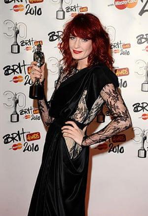 Brit Awards Style: The Brit Awards 2010 Florence Welch