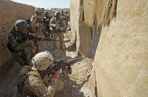 Operation Moshtarak: US Marines enter a house to search for weapons in the town of Marjah