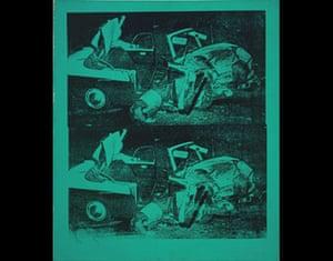 JG Ballard: Crash: Andy Warhol, Green Disaster (Green Disaster Twice), 1963