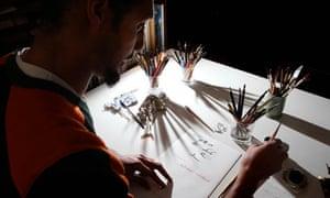 Master calligrapher Paul Antonio