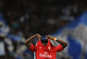 Wed Champions League: It's all too much for Arsenal defender Emmanuel Eboue