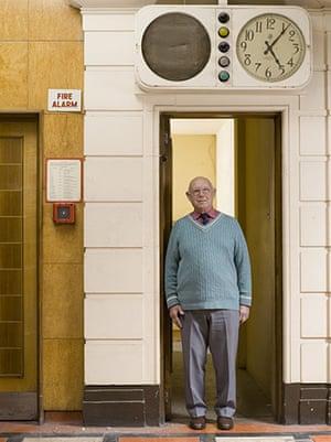 Lewis's fifth floor: Portrait of man on fifth floor