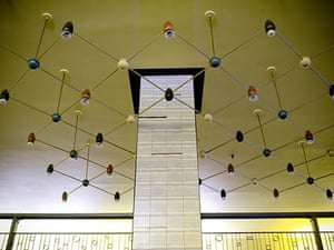 Lewis's fifth floor: Arty lighting rig in ceiling