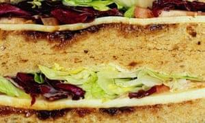 Ploughman's lunch sandwich