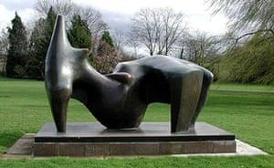 Henry Moore: Henry Moore's stolen sculpture, Reclining Figure 1969-70