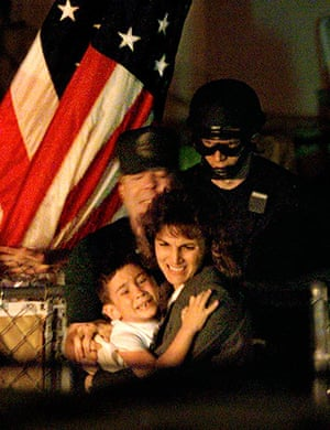 Elian Timeline: U.S. federal agents remove Elian from his great-uncle's house in Miami