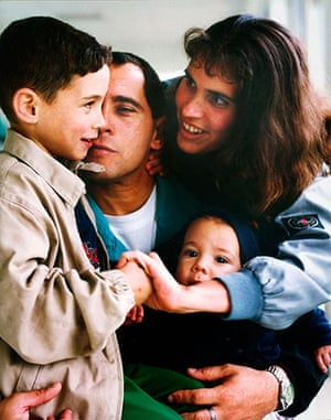 Elian Timeline: Elian Gonzalez with his father Juan Miguel Gonzalez and family