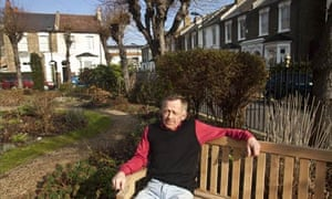 Nobby Clarke, 61, the caretaker of Fassett Square gardens