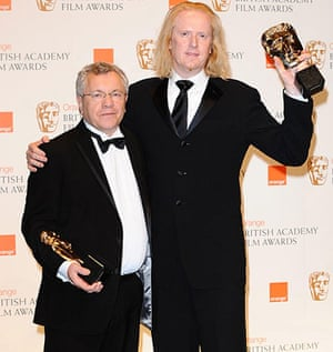Baftas 2010: winners: Baftas 2010: Ray Beckett and Paul Ottosson with the award for Best Sound