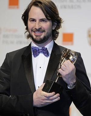 Baftas 2010: winners: Baftas 2010: Mark Boal with his BAFTA award