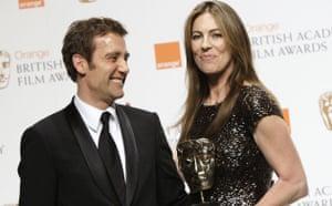 Baftas 2010: winners: Baftas 2010: Kathryn Bigelow, Clive Owen