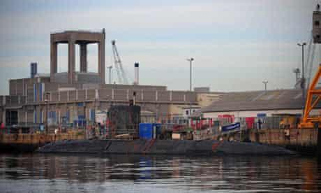 Nuclear submarine at Devonport dock