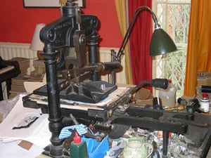 Chris Wormell: 1846 Albion press used by Chris Wormell