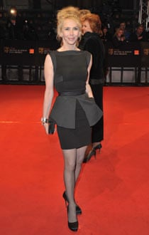 Trudie Styler in a Victoria Beckham dress at the Baftas.