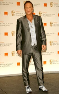 Mickey Rourke at the Baftas.