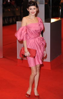 Audrey Tautou in Lanvin at the Baftas.