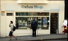 Oxfam shop in Nottingham.