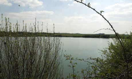 The 'Blue Lagoon' near Arlesey, Bedfordshire, where Michael Gilbert's headless body was found