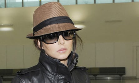 Singer Cheryl Cole arrives at London's Heathrow Airport