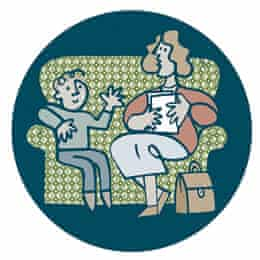 Social worker illustration