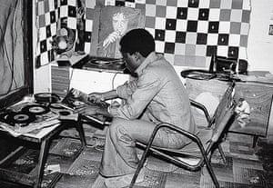 Malick Sidibé Gallery: Disc Jockey, 1975