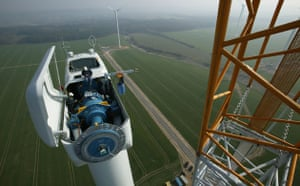 Wind Energy:  wind turbine from manufacturer Nordex, Wimmelburg, Germany