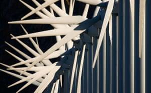 Wind Energy: Giant wind turbines, Palm Springs, California