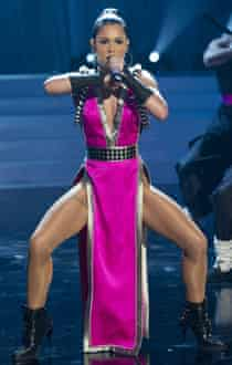 Cheryl Cole performing on her own TV show