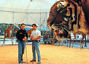When animals kill: Richard Chipperfield, right, with Graham Thomas Chipperfield